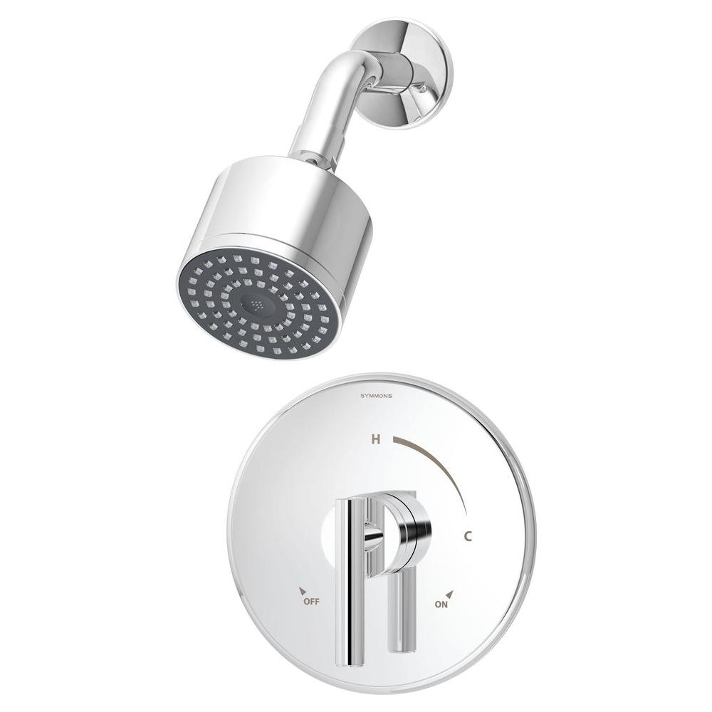 Symmons Dia 1-Handle Shower Faucet System in Chrome (Valve Included ...