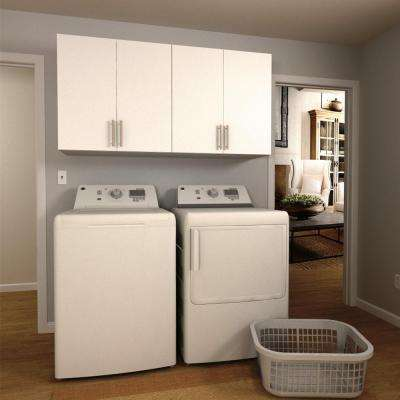 Horizon 60 in. W White Laundry Cabinet Kit