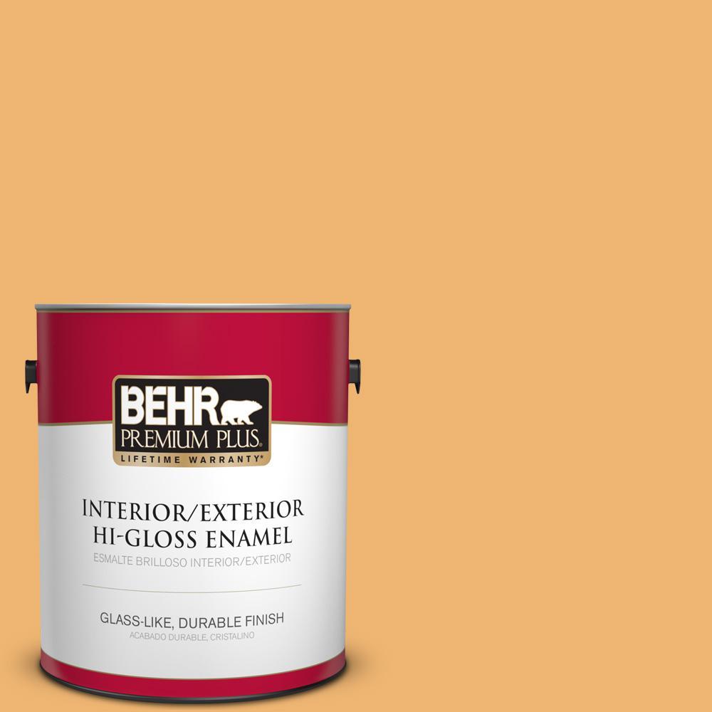 1 gal. #PPU6-03 Sunburst Hi-Gloss Enamel Interior/Exterior Paint