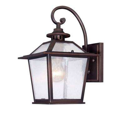 Salem Collection 1-Light Architectural Bronze Outdoor Wall-Mount Coach Light Sconce