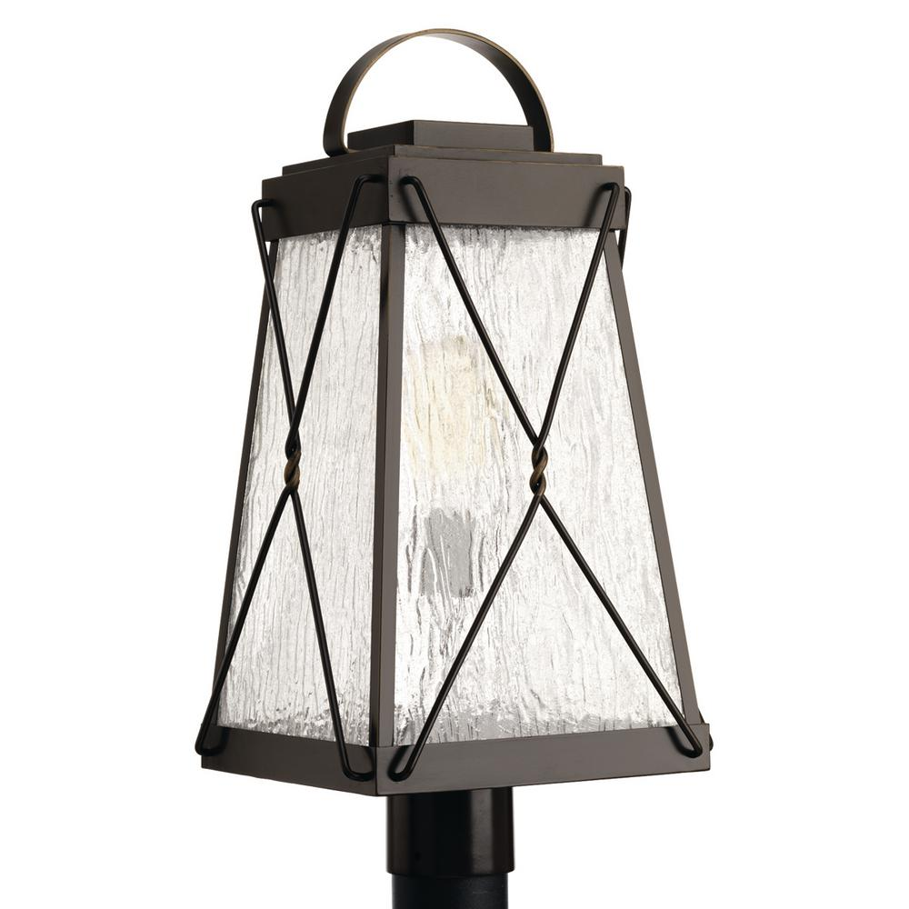 Progress Lighting Glenbrook Collection 1-Light Outdoor Oil Rubbed Bronze Post Lamp