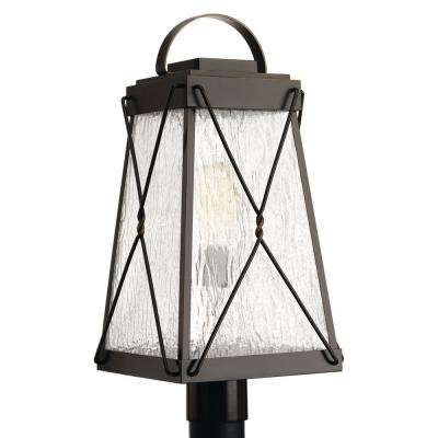 Glenbrook Collection 1-Light Outdoor Oil Rubbed Bronze Post Lamp