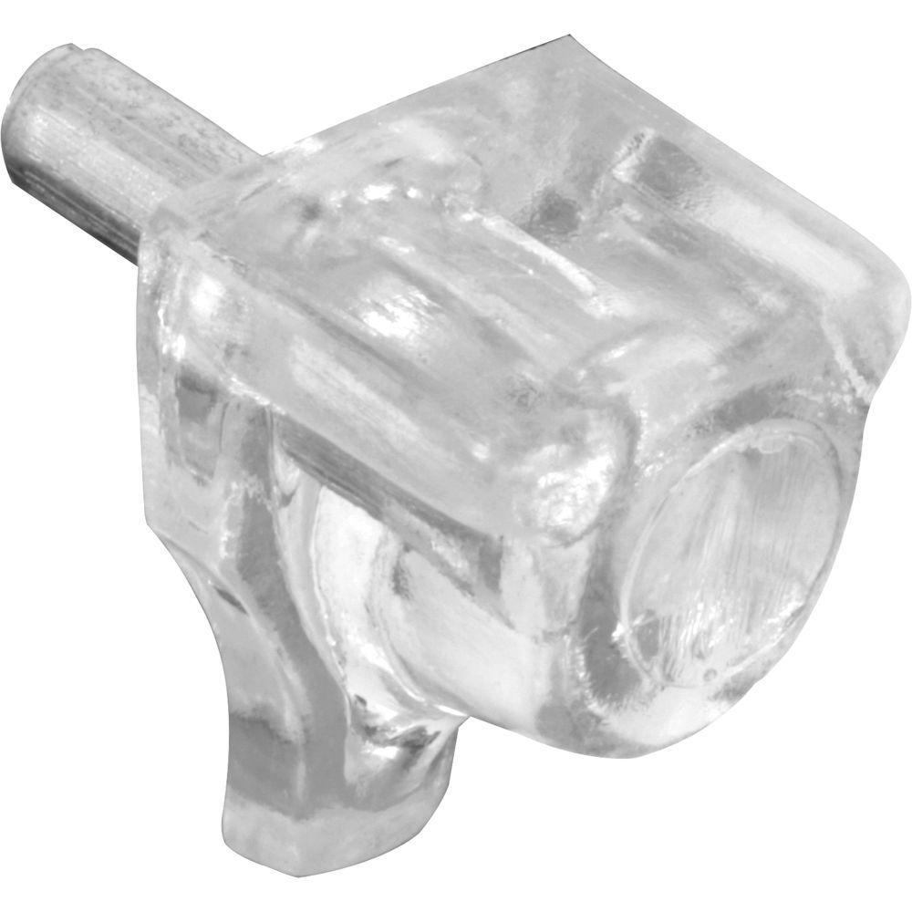 Prime Line 3 mm Metal/Plastic Clear Shelf Peg (8-Pack)