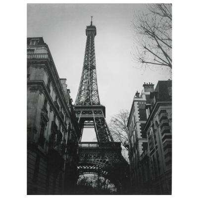 "Oriental Furniture 32 in. x 24 in. ""Eiffel Tower Sun Glow"" Canvas Wall Art"