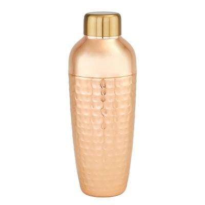 Aura 30 oz. Hammered Copper Cocktail Shaker