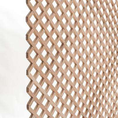 24 in. x 35-3/4 in. x 3/8 in. Unfinished Diagonal Solid North American Red Oak Lattice Panel Insert