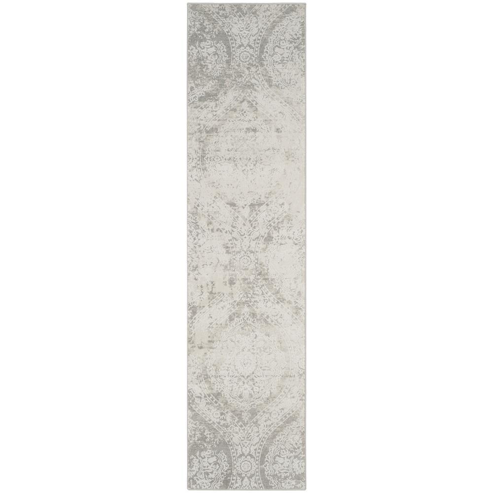 Princeton Gray/Beige 2 ft. x 10 ft. Runner Rug