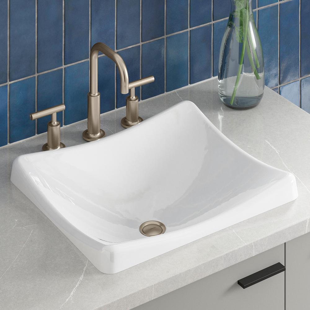 Kohler Demilav Wading Pool Cast Iron Vessel Sink In White