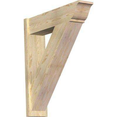 8 in. x 36 in. x 32 in. Douglas Fir Traditional Rough Sawn Outlooker