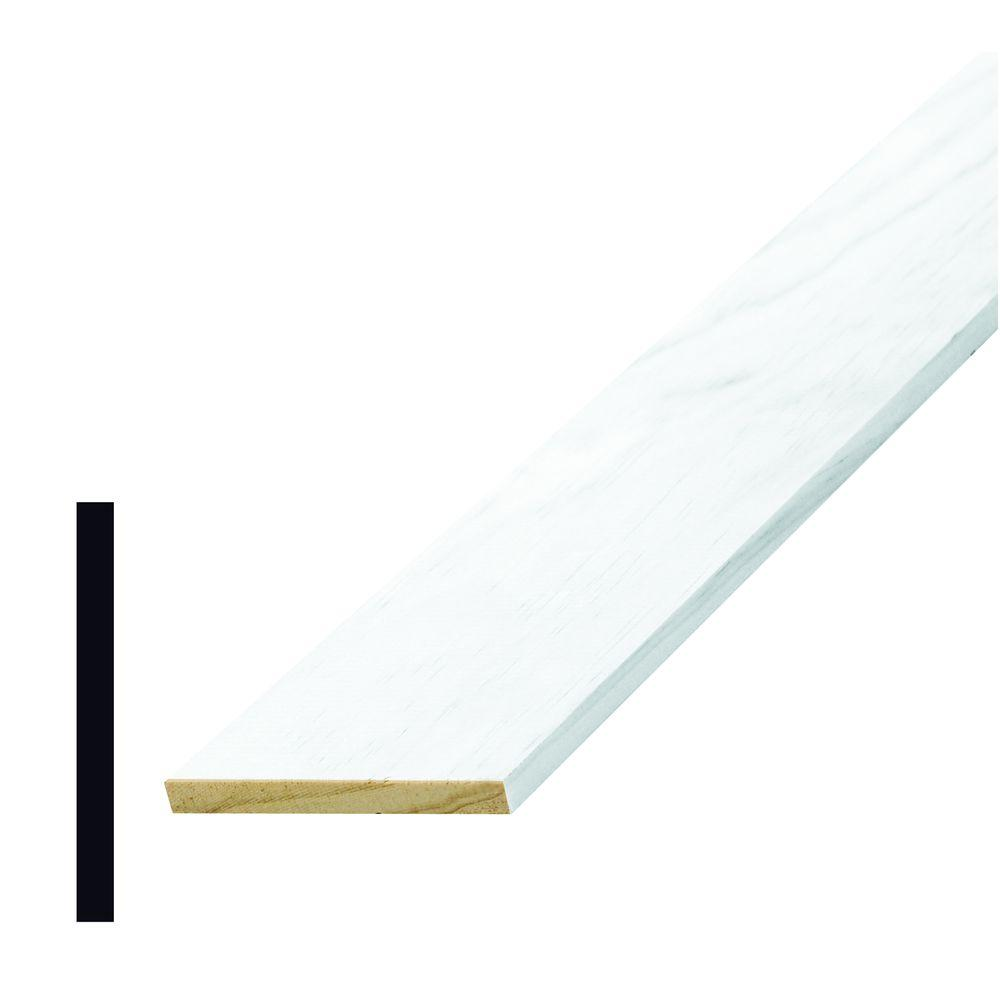 Alexandria Moulding L 264 1/4 in. x 2-1/2 in. x 96 in. Wood Primed Finger-Jointed Lattice Moulding