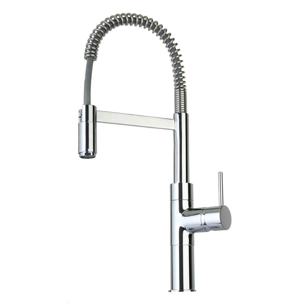 LaToscana Elba Single-Handle Pull-Down Sprayer Kitchen Faucet in Chrome