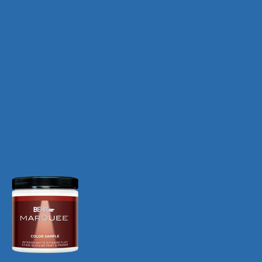Mq4 24 Electric Blue One Coat Hide Matte Interior Exterior Paint And Primer In Sample