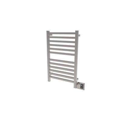 Quadro 20.5 in. W x 33.25 in. H 12-Bar Towel Warmer in Brushed Stainless Steel