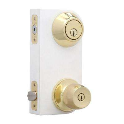 Merveilleux Brandywine Polished Brass Entry Knob And Single Cylinder Deadbolt Combo