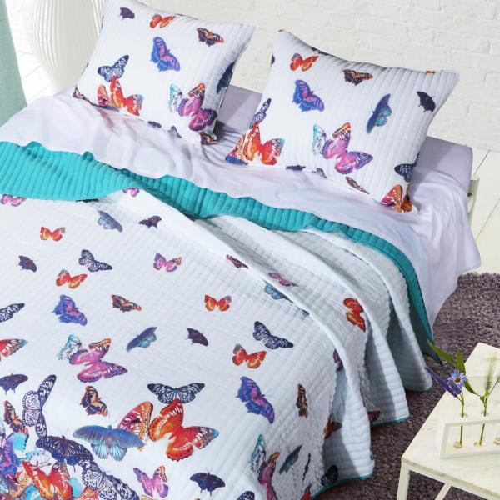 Barefoot Bungalow Mariposa 3-Piece King Quilt Set GL-1710CMSK
