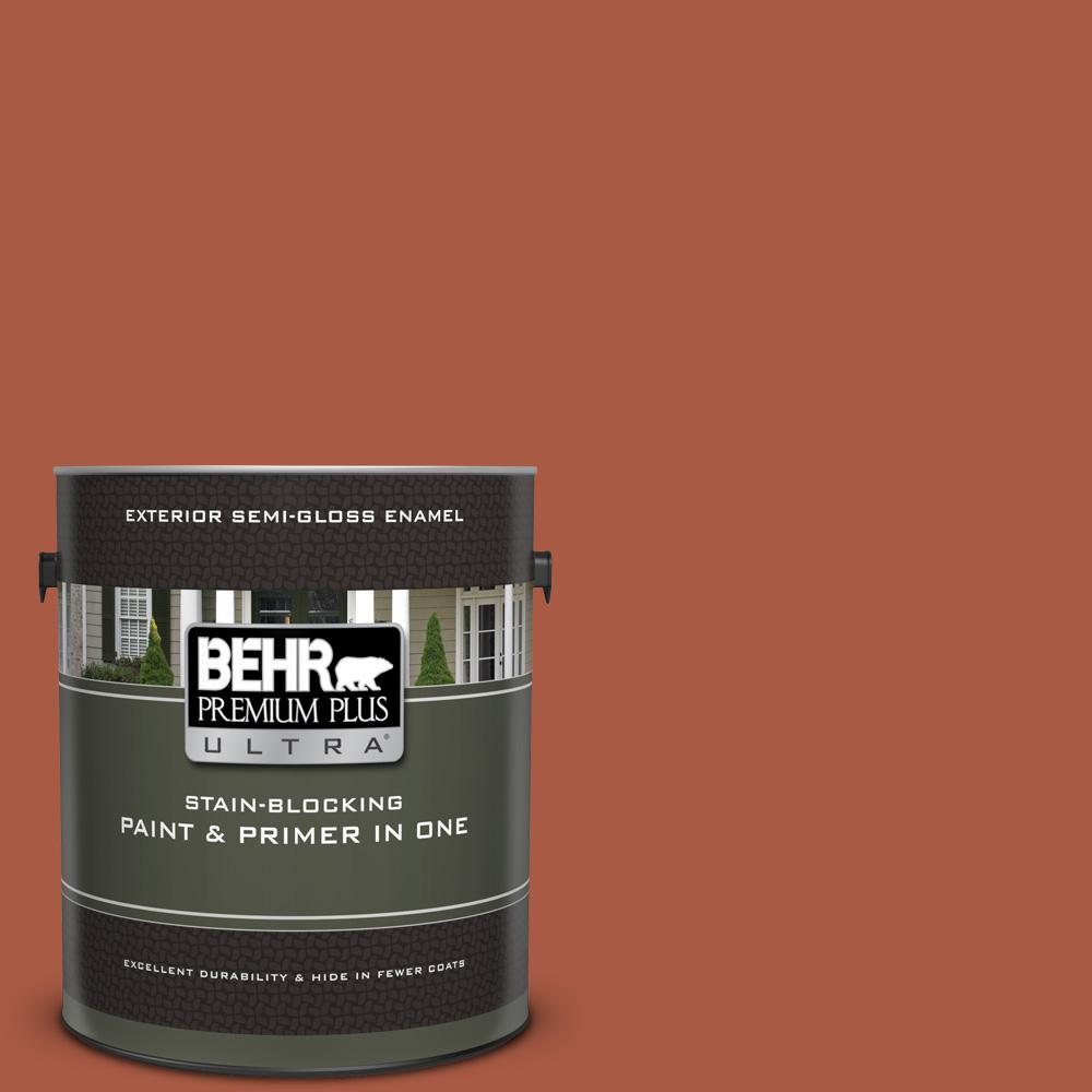 49069dd5827 BEHR Premium Plus Ultra 1 gal.  M190-7 Colorful Leaves Semi-Gloss ...
