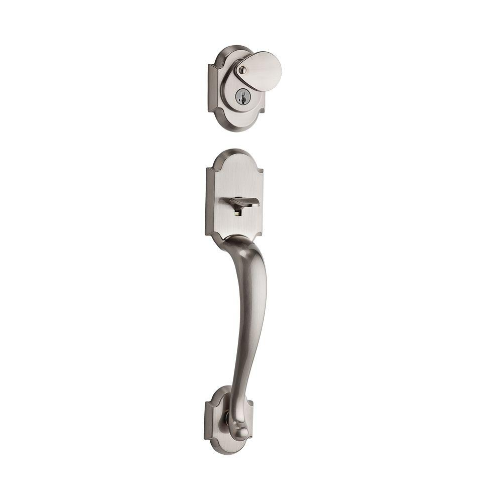 Austin Single Cylinder Satin Nickel Handleset Less Interior Pack featuring