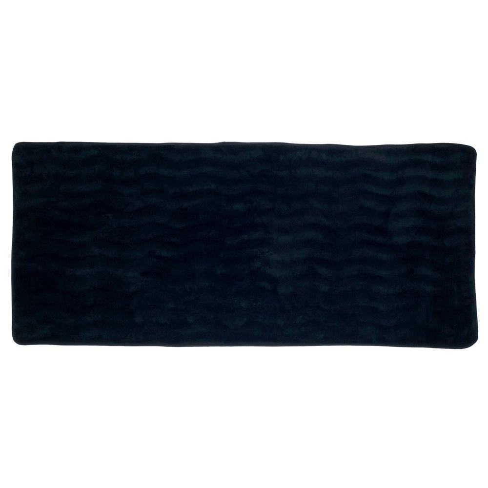 Extra Long Memory Foam Bath Mat 24 X 60 In Black