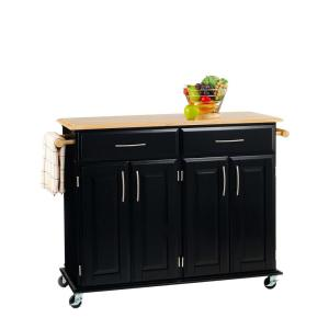 +2. Home Styles Dolly Madison Black Kitchen Cart ...