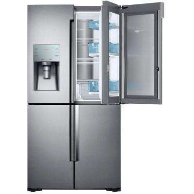 22.1 cu. ft. 4-Door Flex Food Showcase French Door Refrigerator in Stainless Steel, Counter Depth