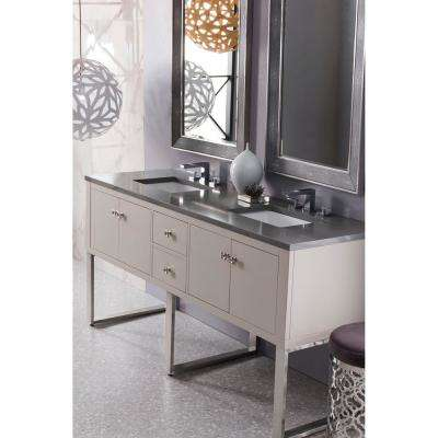 Westlake 72 in. Single Bath Vanity in Mountain Mist with Quartz Vanity Top in Grey Expo with White Basin