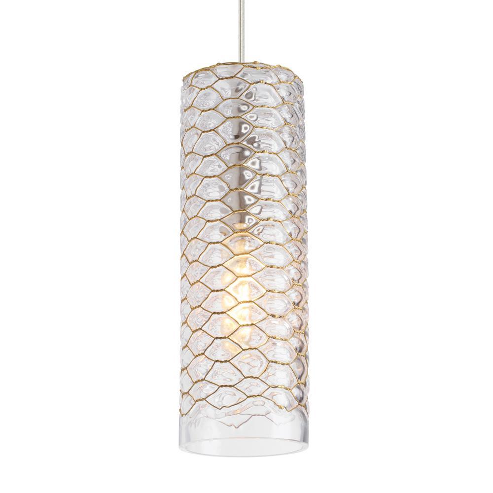 Lania 1-Light Clear-Brass Pendant