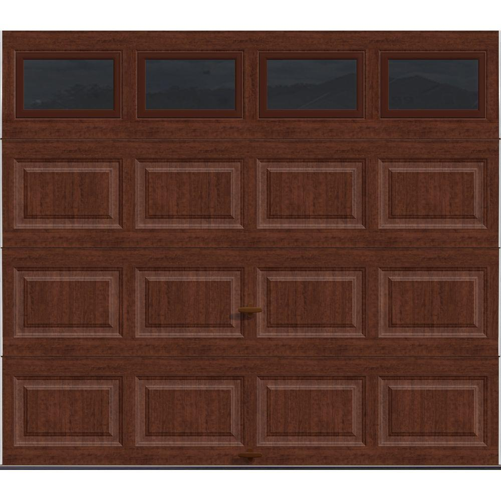 Clopay classic collection 8 ft x 7 ft 184 r value intellicore clopay classic collection 8 ft x 7 ft 184 r value intellicore insulated ultra grain cherry garage door with windows hdp20ccplain the home depot rubansaba