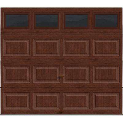 Classic Collection 8 ft. x 7 ft. 18.4 R-Value Intellicore Insulated Ultra-Grain Cherry Garage Door with Windows