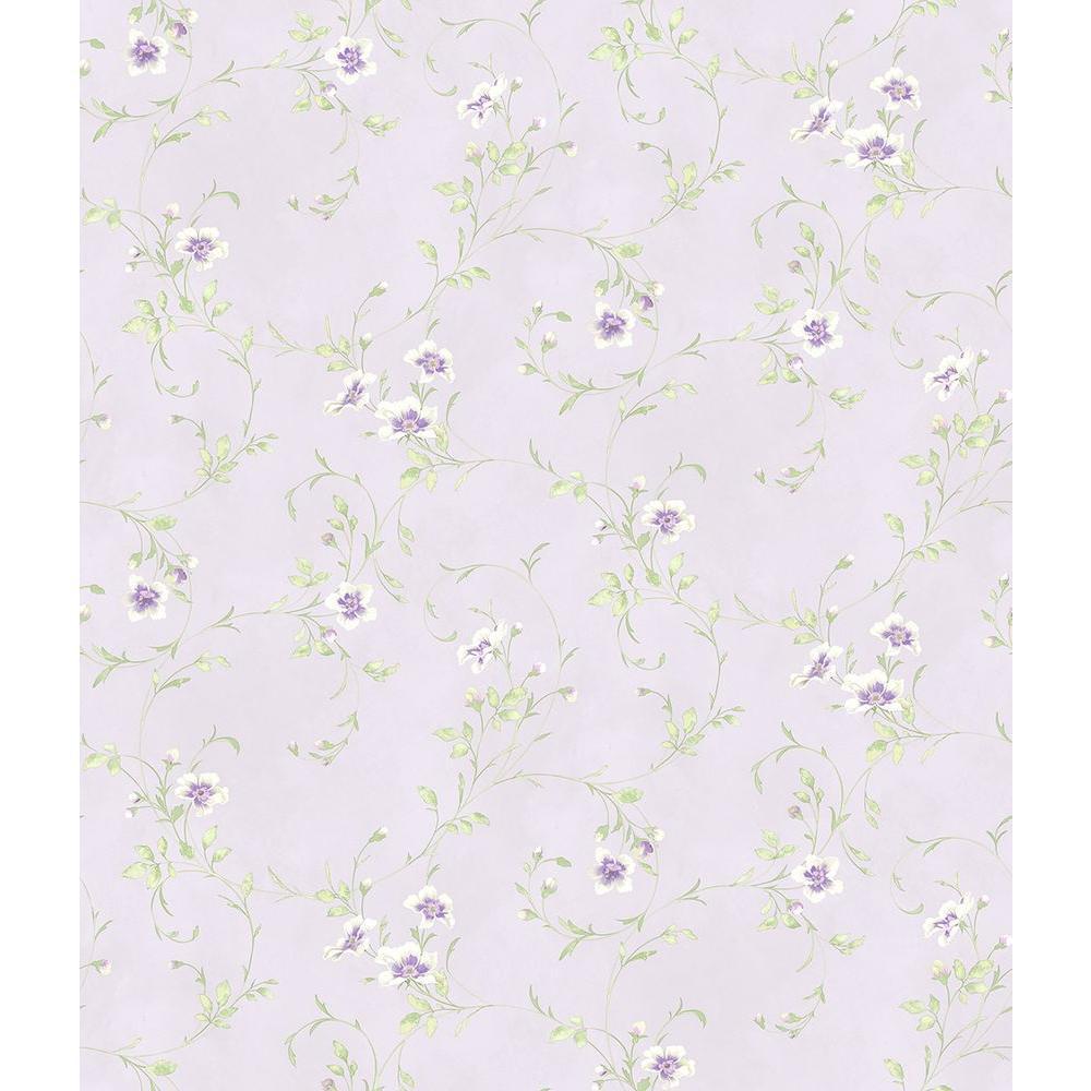 Chesapeake Capri Lavender Floral Scroll Wallpaper Has54636 The