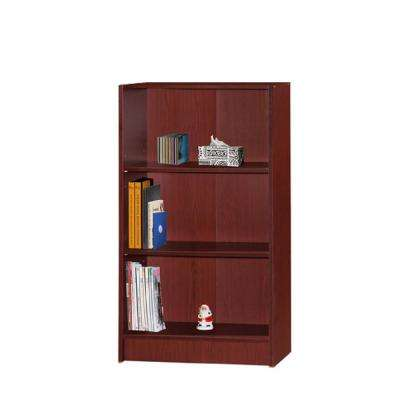 3-Shelf, 35 in. H Mahogany Bookcase