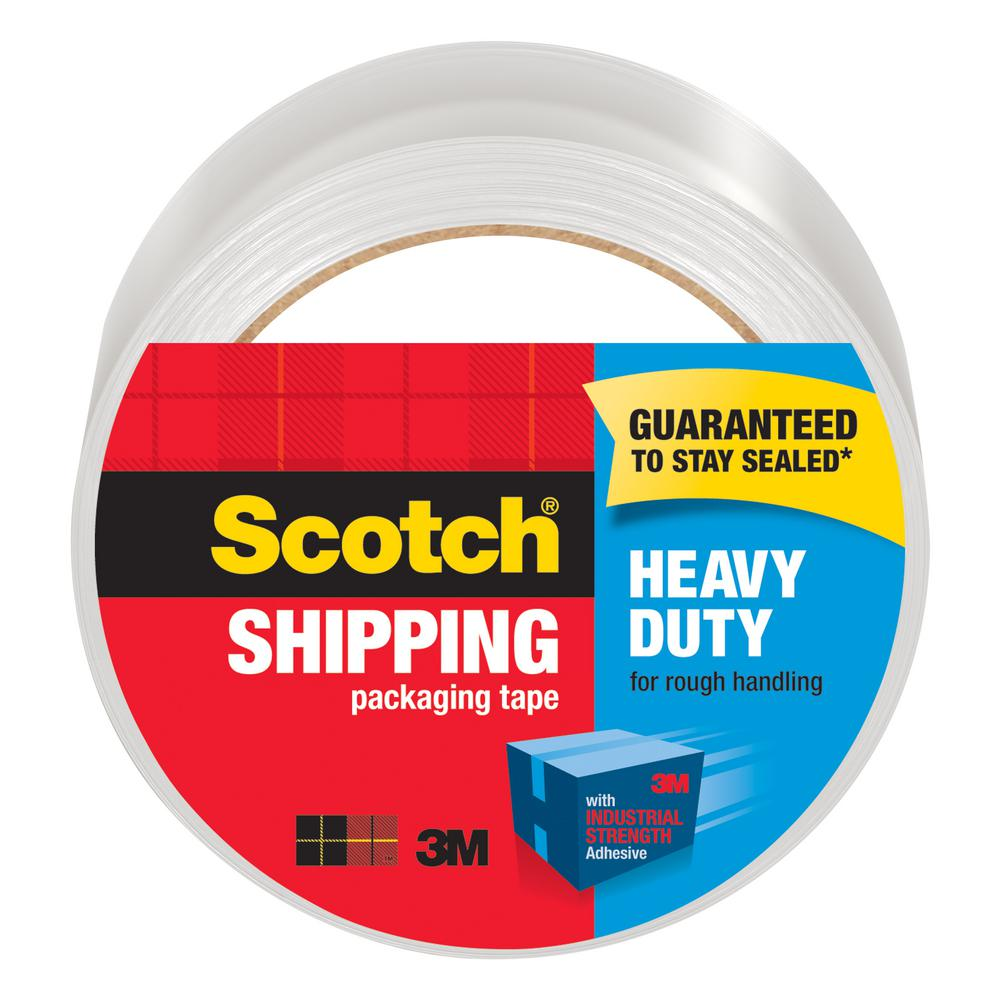 3M 1.88 in. x 54.6 yds. Heavy-Duty Clear Shipping and Packaging Tape
