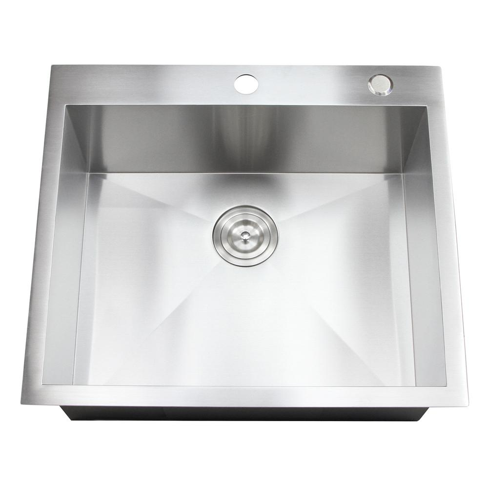 Kitchen Sink Hardware: Kingsman Hardware Topmount / Drop-in 25 In. X 22 In. X 10