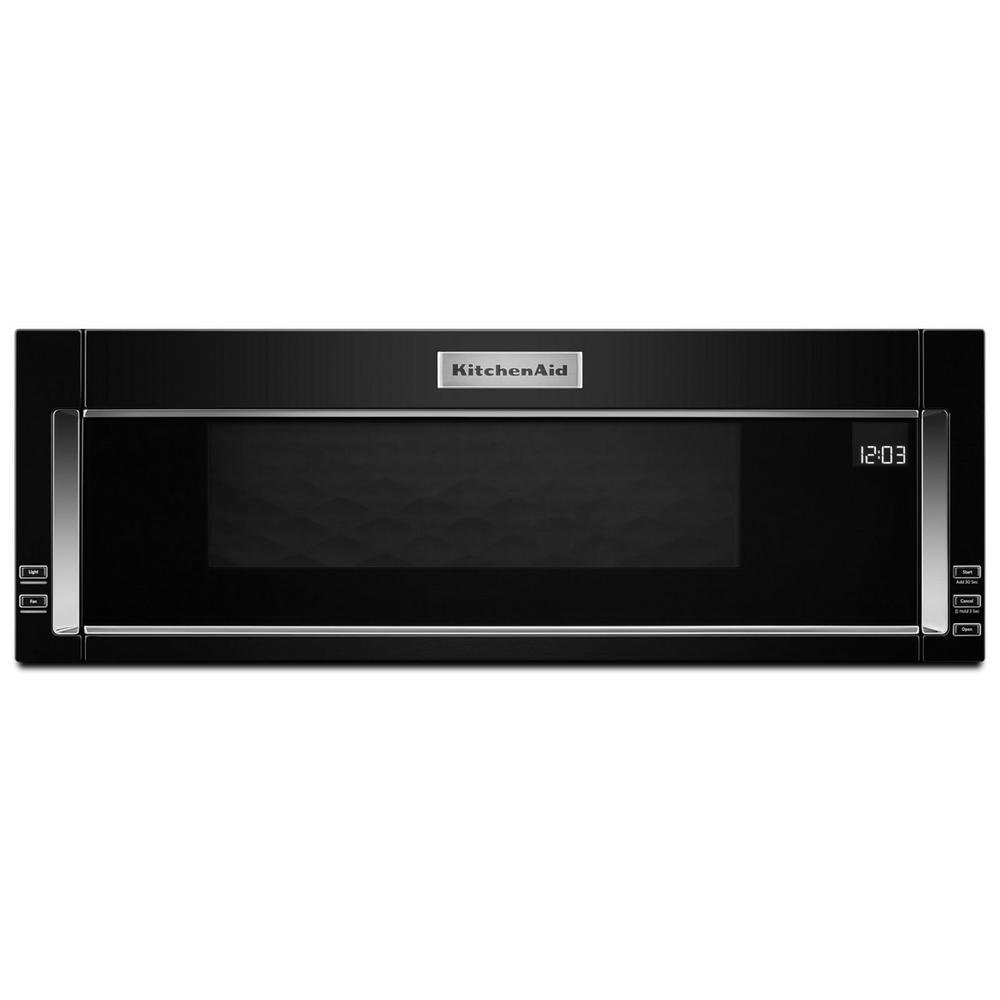 Kitchenaid 1 Cu Ft Over The Range Low Profile Microwave Hood Combination In Black