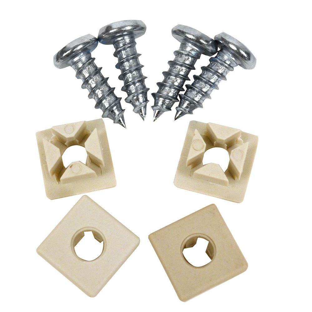 Nylon and Metal License Plate Fastener (4-Pack)