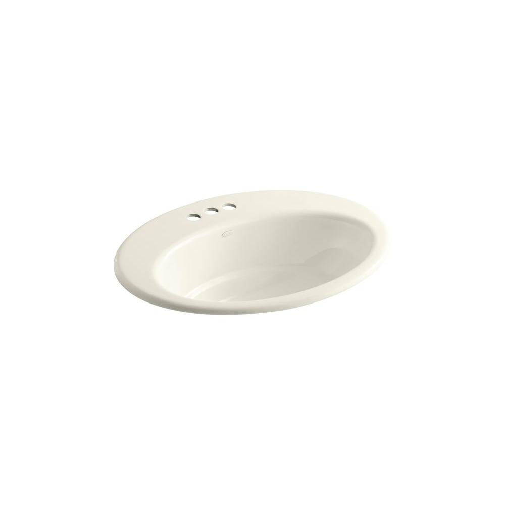 KOHLER Thoreau Drop-In Bathroom Sink in Biscuit