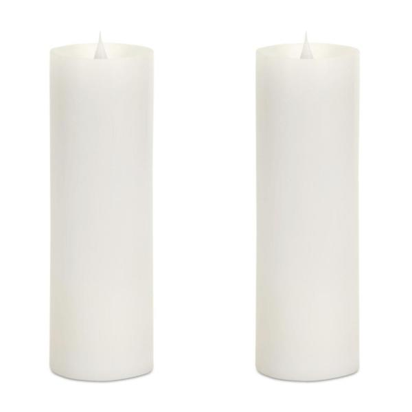 Undefined Simplux Led Pillar Candle Set Of 2 3 D X 9