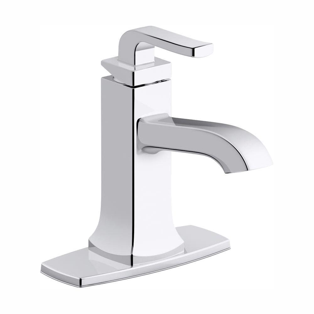 KOHLER Rubicon Single Hole Single-Handle Bathroom Faucet in Polished Chrome