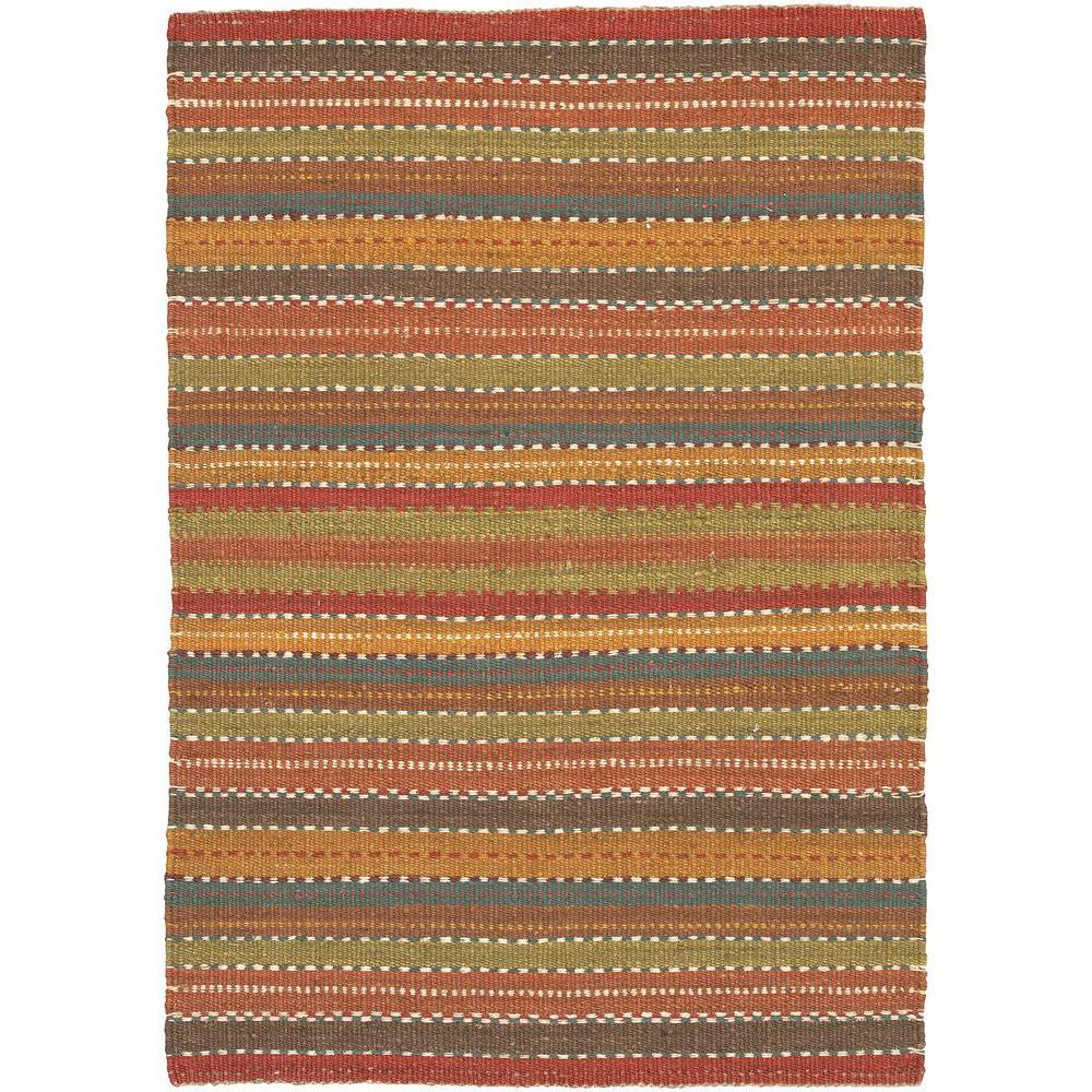 Saket Brown/Red/Orange/Blue/Green 2 ft. x 3 ft. Indoor Area Rug