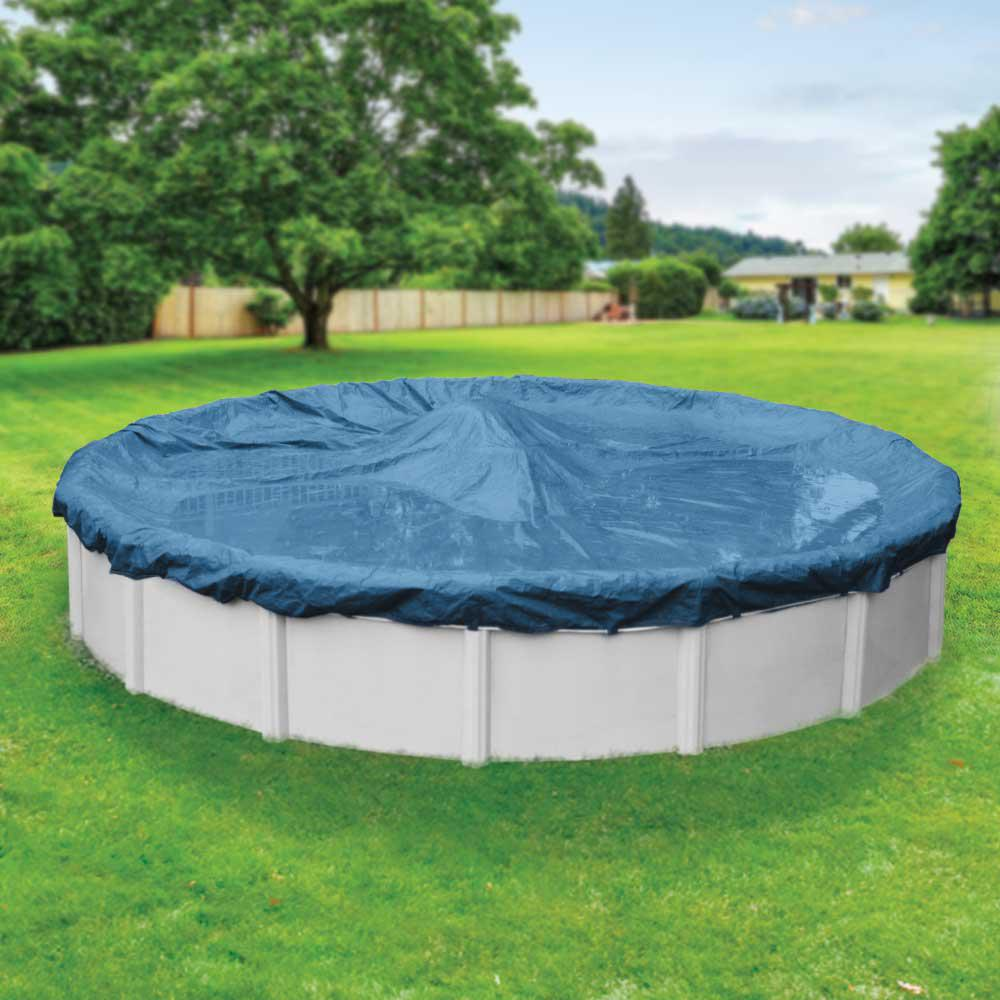 Heavy-Duty 15 ft. Round Imperial Blue Winter Pool Cover