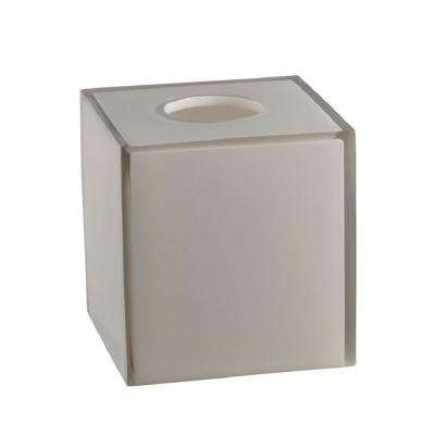 Glacier Frost Tissue Box Cover in Gray