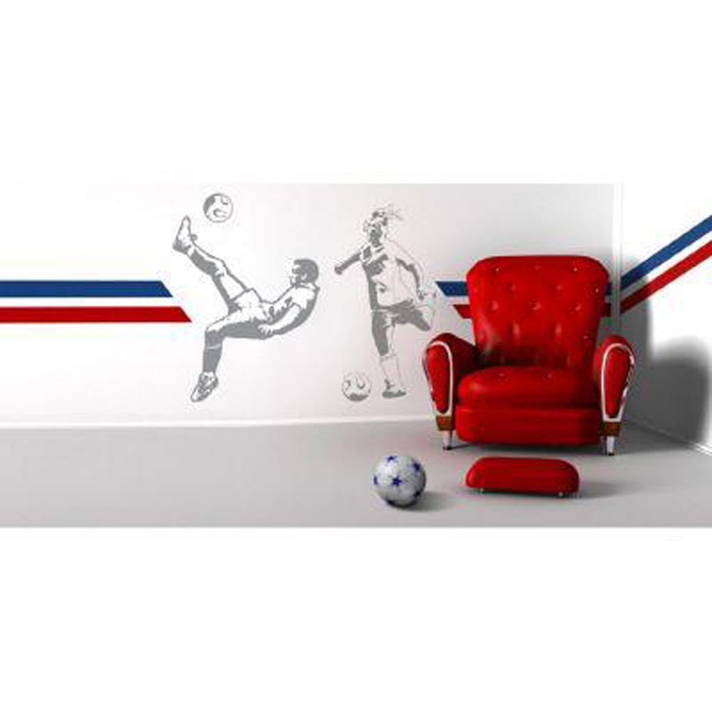 Sudden Shadows 83 in. x 64 in. Soccer 2-Piece Wall Decal