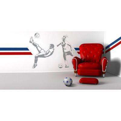 83 in. x 64 in. Soccer 2-Piece Wall Decal