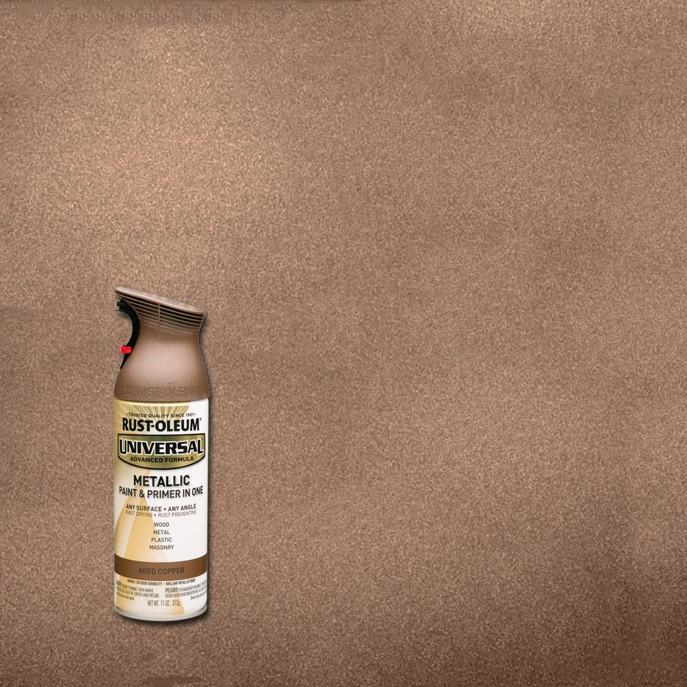 Rustoleum Metallic Spray Paint: Rust-Oleum Universal 11 Oz. All Surface Metallic Aged