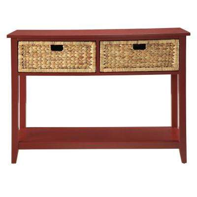 Flavius Console Table in Burgundy