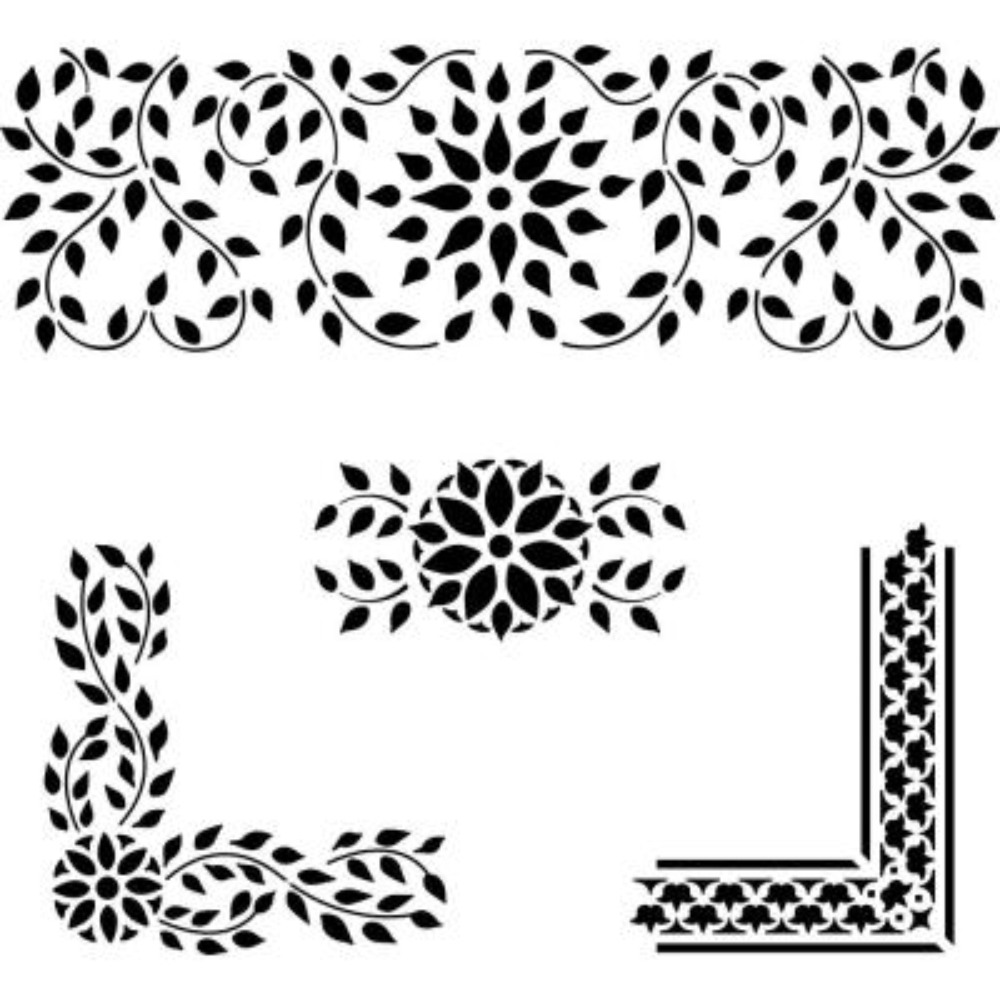 Indian Inlay Stencil Details