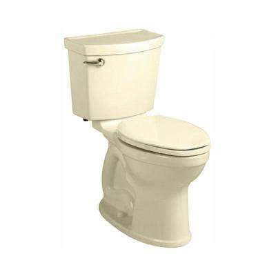 Champion 4 HET Tall Height 2-piece 1.28 GPF Single Flush High-Efficiency Round Toilet in Bone, Seat Not Included