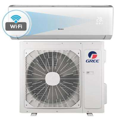 Livo 12,000 BTU 1 Ton Wi-Fi Programmable Ductless Mini Split Air Conditioner with Inverter, Heat, Remote 208-230V/60Hz