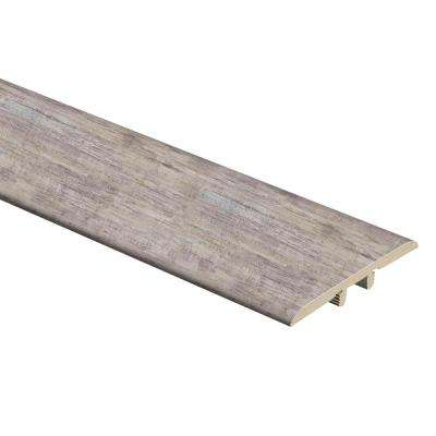 Brushed Wood Greige 5/16 in. Thick x 1-3/4 in. Wide x 72 in. Length Vinyl T-Molding