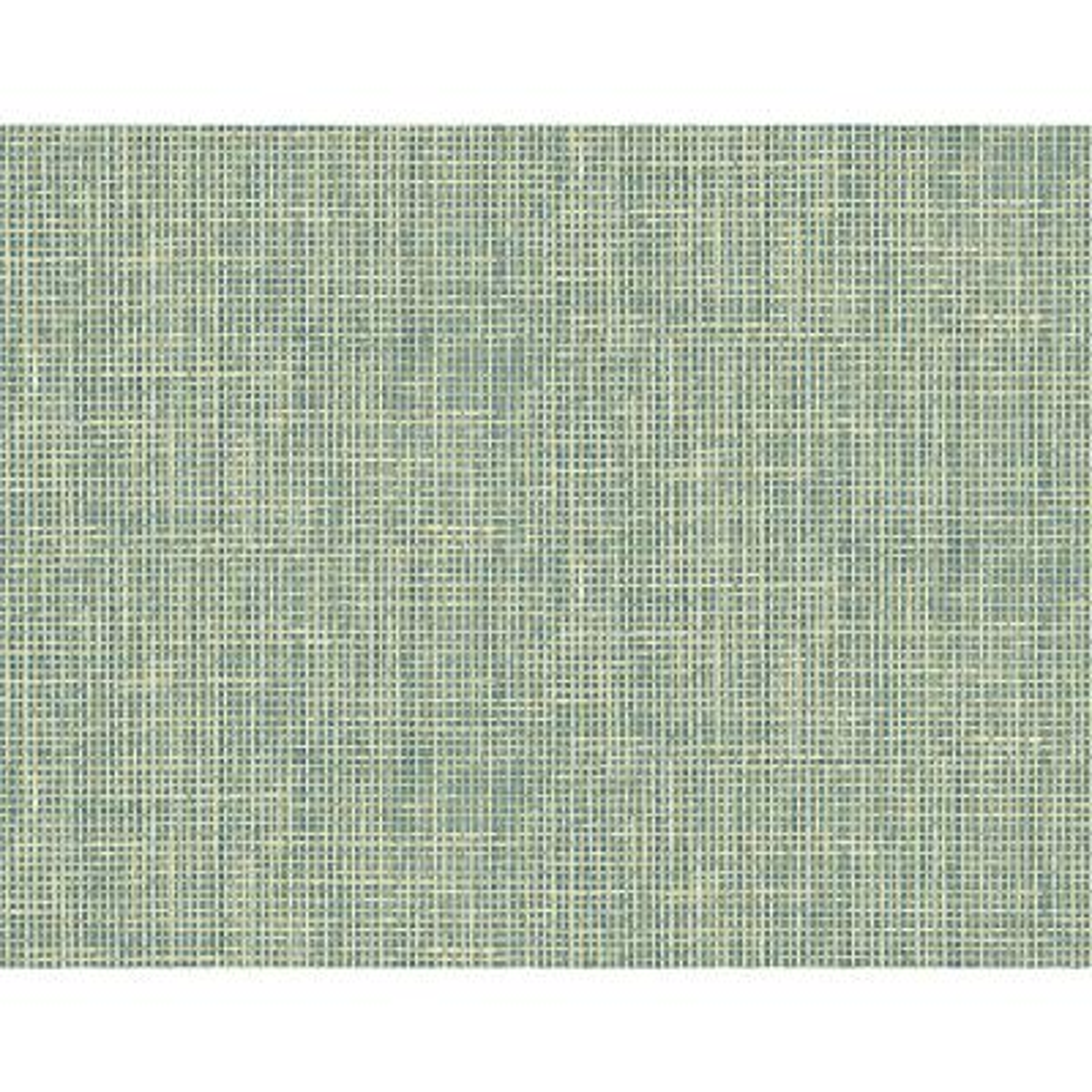 Woven Summer Green Grid Wallpaper Sample