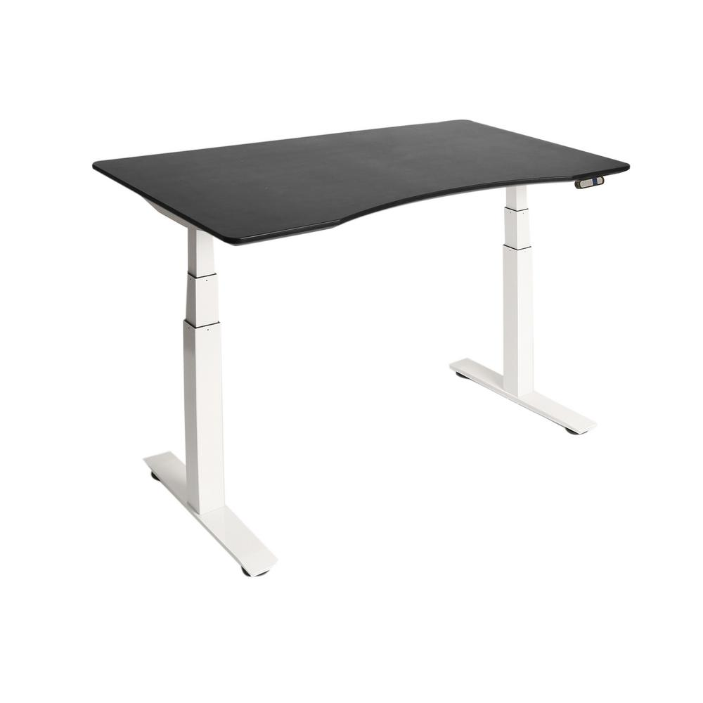 Airlift White Base with Black Ergo Table Top S3 Electric Height